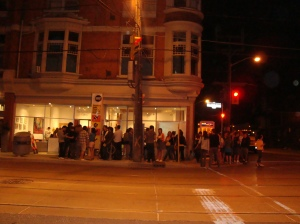 Line-up around the block to get into THINK ABOUT LIFE/DD/MM/YYYY show.