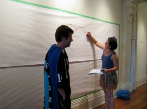 Colin Doyle and Natasha Greenblat(t) at the Performance Gallery